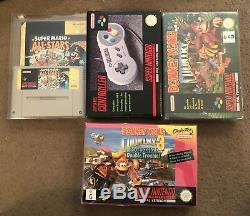 Super Nintendo Entertainment System SNES 5 Game Value Pack With Extras