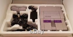 Super Nintendo Entertainment System SNES Console Set CIB 1ST RUN BOXED COMPLETE