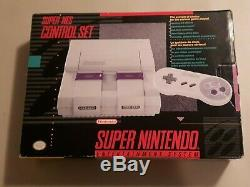 Super Nintendo Entertainment System SNES NES Control Set in Box Tested Works