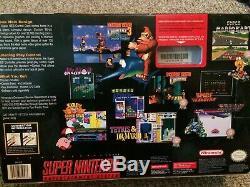 Super Nintendo Jr SNES Console System CIB Complete in Box Model 2 Beautiful