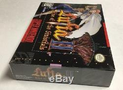 Super Nintendo Lufia II 2 Rise Of The Sinistrals SNES Brand New FACTORY SEALED