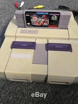 Super Nintendo Original Console Retro SNES 6 Games Lion King Combat Baseball