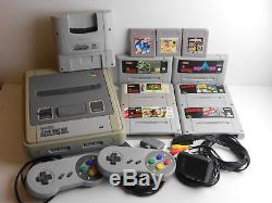 Super Nintendo / SNES + 2 Controller + Spiele + Kabel #2