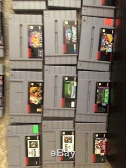 Super Nintendo SNES 71 Game Lot/Bundle Mario, Madden, Disney, NBA, NHL