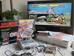 Super Nintendo SNES Console BOXED Street Fighter II Edition Vintage Retro