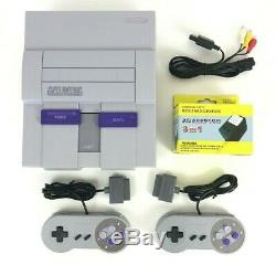 Super Nintendo SNES Console Bundle (SNS-001) 2 New Controllers & Cords Cleaned
