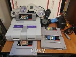 Super Nintendo SNES Console Bundle With4 Games-Mario All Stars & 2 Controllers