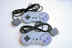 Super Nintendo SNES Console Game System All-Gray Bundle with Super Mario World