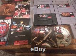 Super Nintendo SNES Console Lot CIB Games MARIO INDIANA JONES KILLER INSTINCT VG
