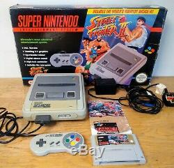 Super Nintendo SNES Console Street Fighter II 2 BOXED + Original Booklet WORKING