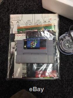 Super Nintendo SNES Console Super NES Super Set Complete CIB Upgraded Controller