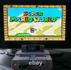 Super Nintendo SNES Console Super Set In Box With Game Super Mario World