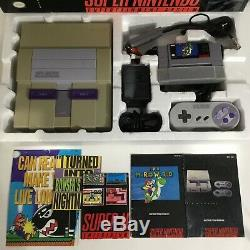 Super Nintendo SNES Console System Box Boxed Complete Mario World Tested Cleaned