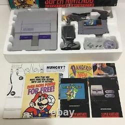 Super Nintendo SNES Console System Box Boxed Complete + Super Mario World
