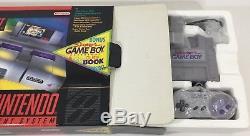 Super Nintendo SNES Console System Box Boxed GAMEBOY ATTACHMENT CIB Nice Ex/NM