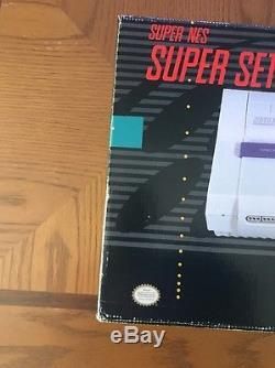 Super Nintendo SNES Console System Box Boxed Mario World Complete CIB Nice
