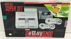 Super Nintendo SNES Console System Box Boxed Target Nintendo Power Complete CIB