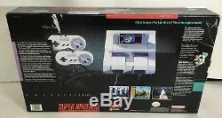 Super Nintendo SNES Console System Boxed Complete In Box CIB Mario World