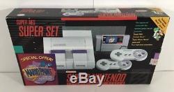 Super Nintendo SNES Console System Boxed Mario Paint CIB 100% Complete Nr Mint