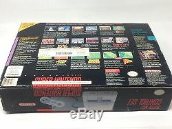 Super Nintendo SNES Console System F-Zero Target Edition Complete In Box, Tested