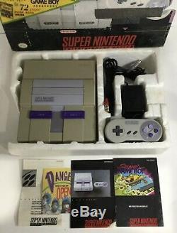 Super Nintendo SNES Console System In Box Boxed Walmart Complete