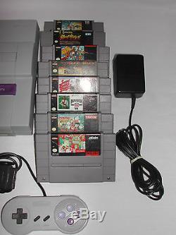 Super Nintendo SNES Console Video Game System Games Bundle
