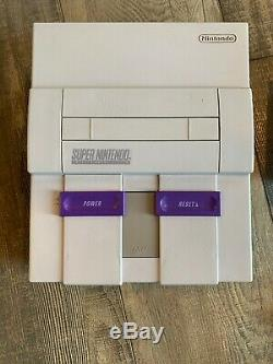 Super Nintendo SNES Console with 2 Controllers, 4 Games, RF Switch, AV RCA SNS-001
