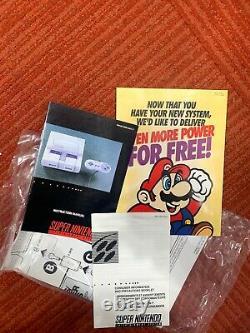 Super Nintendo SNES Control Set Console Original Box & Styrofoam Insert RARE