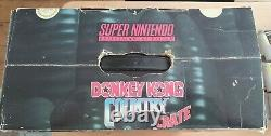 Super Nintendo SNES Donkey Kong Crate console boxed 100% complete V-good