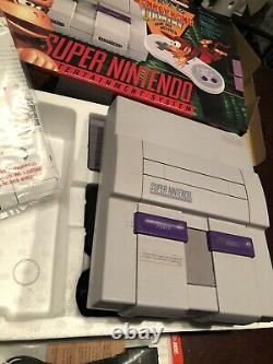 Super Nintendo SNES Donkey Kong Set- In Box (Console/Box Numbers Match)