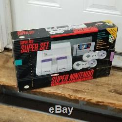 Super Nintendo SNES Game Console System EMPTY BOX & STYROFOAM ONLY NO SYSTEM