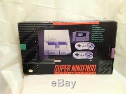Super Nintendo SNES Gaming Console In Original Box with Two Controllers Bundle