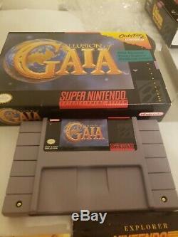 Super Nintendo SNES Illusion of Gaia Complete in Box CIB Authentic Saves