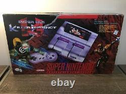 Super Nintendo SNES Killer Instinct Console System Complete in Box New Unused