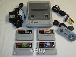 Super Nintendo SNES Konsole + 4 TOP Rollenspiele