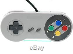 Super Nintendo SNES Konsole ALLE Kabel 2 Controller Spiel GUTER Zustand