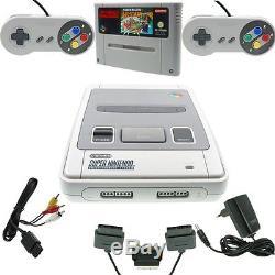 Super Nintendo SNES Konsole ALLE Kabel 2 Controller Super Mario All Stars GUT