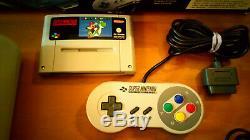 Super Nintendo (SNES) Konsole // +OVP + Original-Kontroller + -Kabel // PAL CIB
