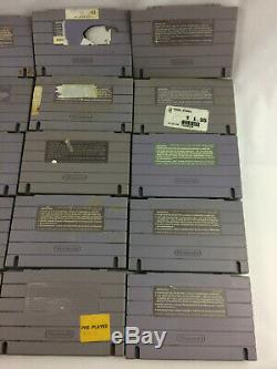 Super Nintendo (SNES) Lot of 24 Cartridges TESTED, Space Ace, Pac-Man, Batman +
