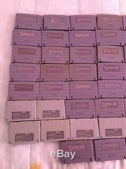 Super Nintendo SNES Lot of 60 Video Games Cartridges Only Super Famicom SFC RARE