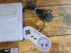 Super Nintendo SNES Mini Jr Console System SNS-101 OEM SNS-102 Controller Tested