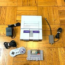 Super Nintendo SNES Original Console OEM System Set with Mario All Stars WORKING