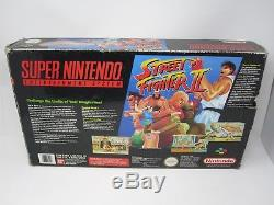 Super Nintendo SNES (PAL) Street Fighter II (2) Console Boxed (No Poly Tray)