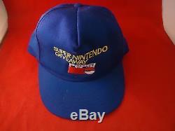 Super Nintendo SNES Pepsi Giveaway Promotional Blue Hat Promo Snapback Cap