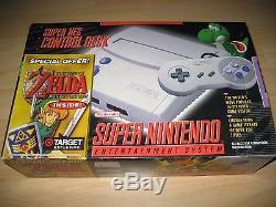 Super Nintendo SNES Slim Mini Game Console Zelda Bundle Brand New