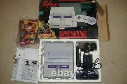 Super Nintendo SNES System Console Complete in Box with Killer Instinct #215 GOOD