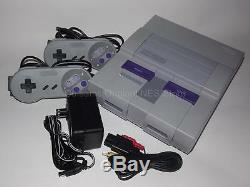 Super Nintendo SNES System Console Complete with 2 Controllers & Guarantee