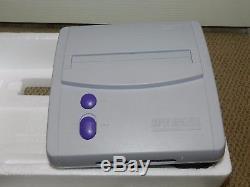 Super Nintendo SNES System Console Original Compact COMPLETE in Box MINT SNS-001