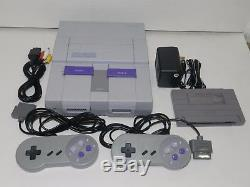 Super Nintendo SNES System Console SNS-001 Complete Tested + Warranty