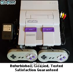 Super Nintendo SNES System Console With 2 Controllers Ships Fast